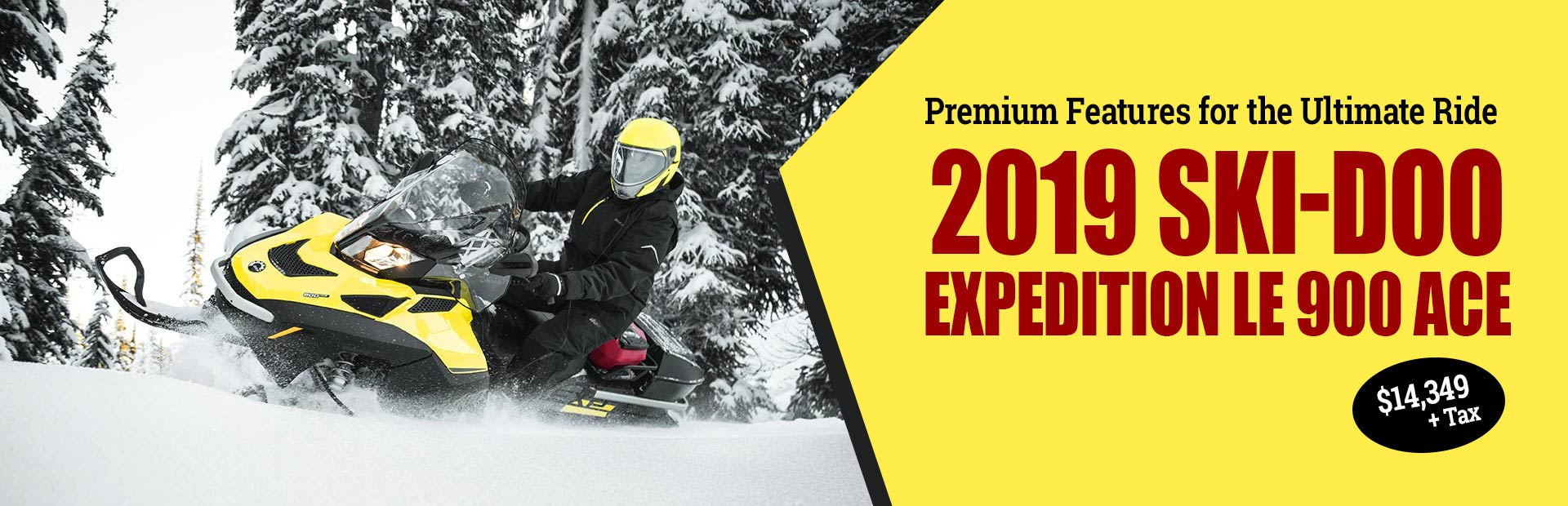 Get the 2019 Ski-Doo Expedition LE 900 ACE for $14,349 + tax!