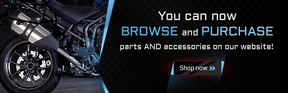 You can now browse and purchase parts and accessories on our website!