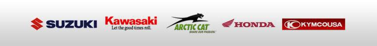 We carry products from Suzuki, Kawasaki, Arctic Cat, Honda, and KYMCO.