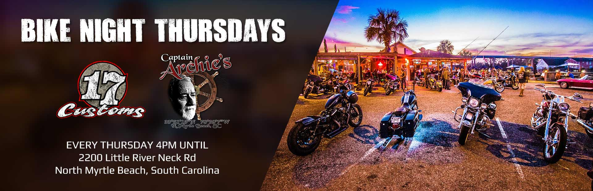 Join us every Thursday at 4:00 p.m. for Bike Night!