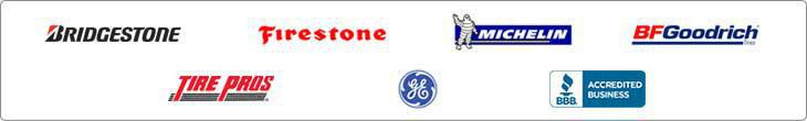 We carry Bridgestone, Firestone, Michelin®, BFGoodrich®, Tire Pros, and GE products. We are accredited by the BBB.