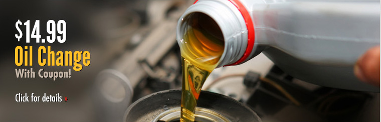 Click here to get your coupon for a $14.99 oil change!