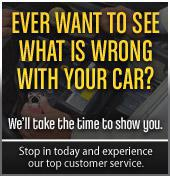 Ever want to see what is wrong with your car? We'll take the time to show you. Stop in today and experience our top customer service.