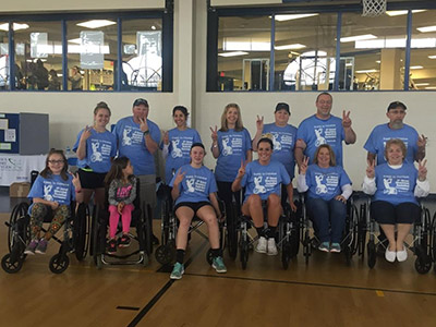 Hub's staff giving back. Here we are participating in the wheelchair basketball game for Roads to Freedom Center for Independent Living. Hub's proudly finished second!