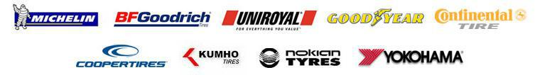 We carry products from Michelin®, BFGoodrich®, Uniroyal®, Goodyear, Continental, Cooper, Kumho, Nokian, and Yokohama.