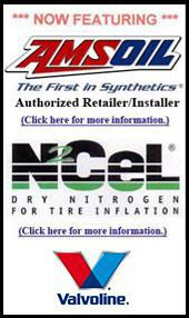 Now featuring Amsoil, N₂Cel, and Valvoline.
