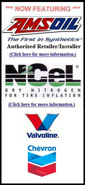 Now featuring Amsoil, N₂Cel, Valvoline, and Chevron.