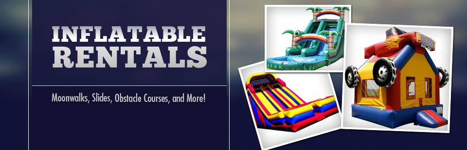 Inflatable Rentals: Rent moonwalks, slides, obstacle courses, and more!
