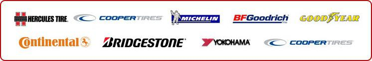 We carry Products from Michelin, BFGoodrich, goodyear, continental, bridgestone, yokohama, cooper and Hercules