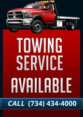Towing Service Available – Call (734) 434-4000