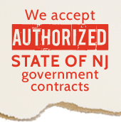 We accept authorized state of NJ government contracts.
