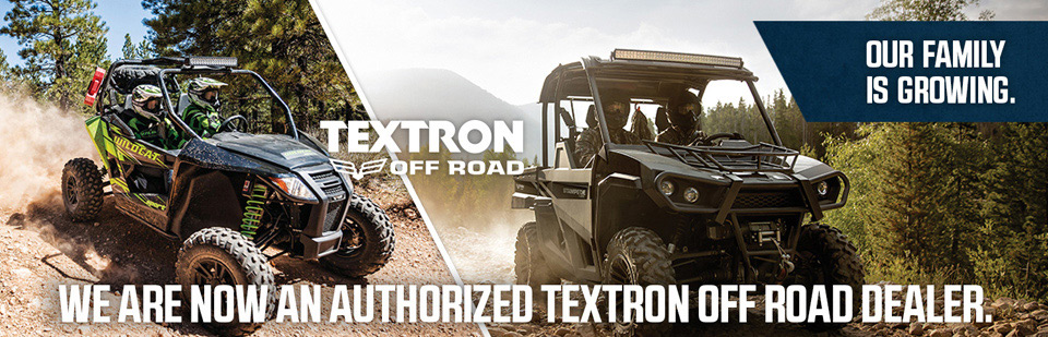 We Are Now an Authorized Textron Dealer