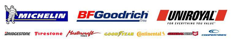 We proudly carry tires from Michelin®, BFGoodrich®, Uniroyal®, Bridgestone, Firestone, Mastercraft, Goodyear, Continental, General, and Cooper.
