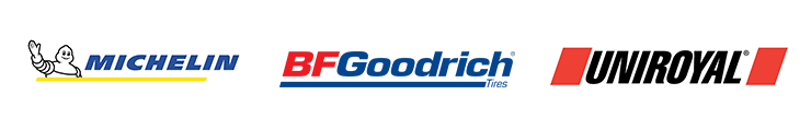 We proudly carry tires from Michelin®, BFGoodrich®, and Uniroyal®