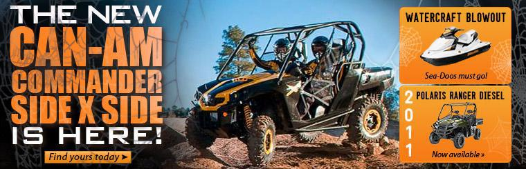 The new Can-Am Commander side x side has arrived! Click here to find yours today.