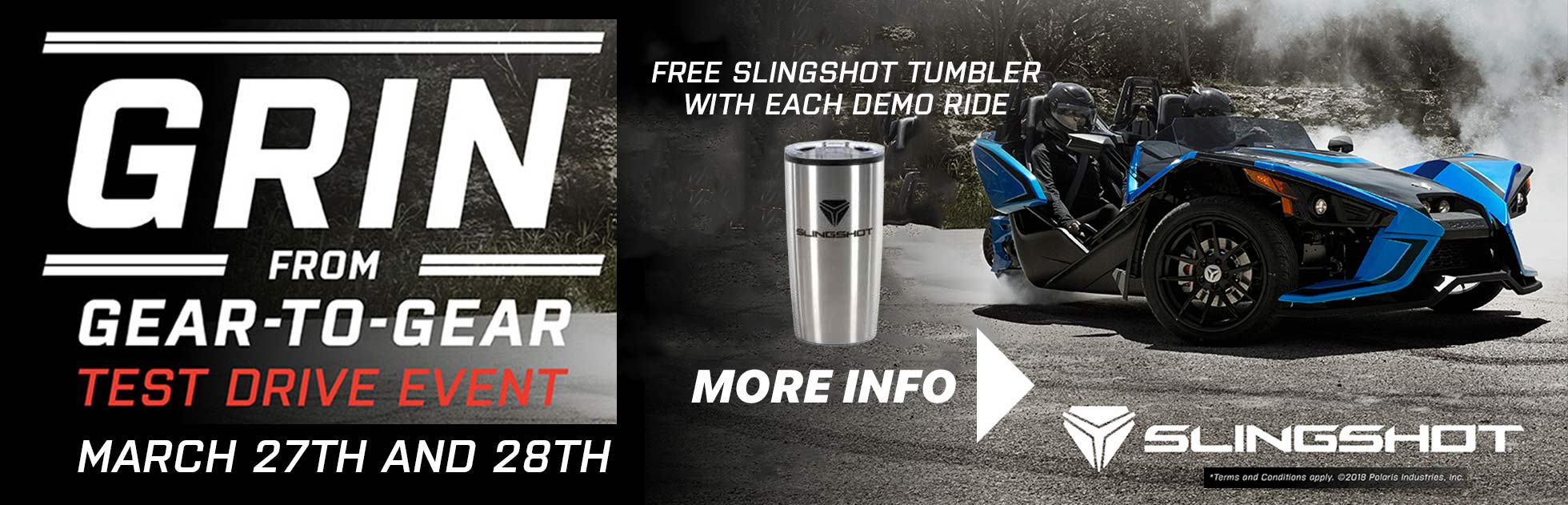 Sign up To Test Drive the 2018 Slingshot Lineup