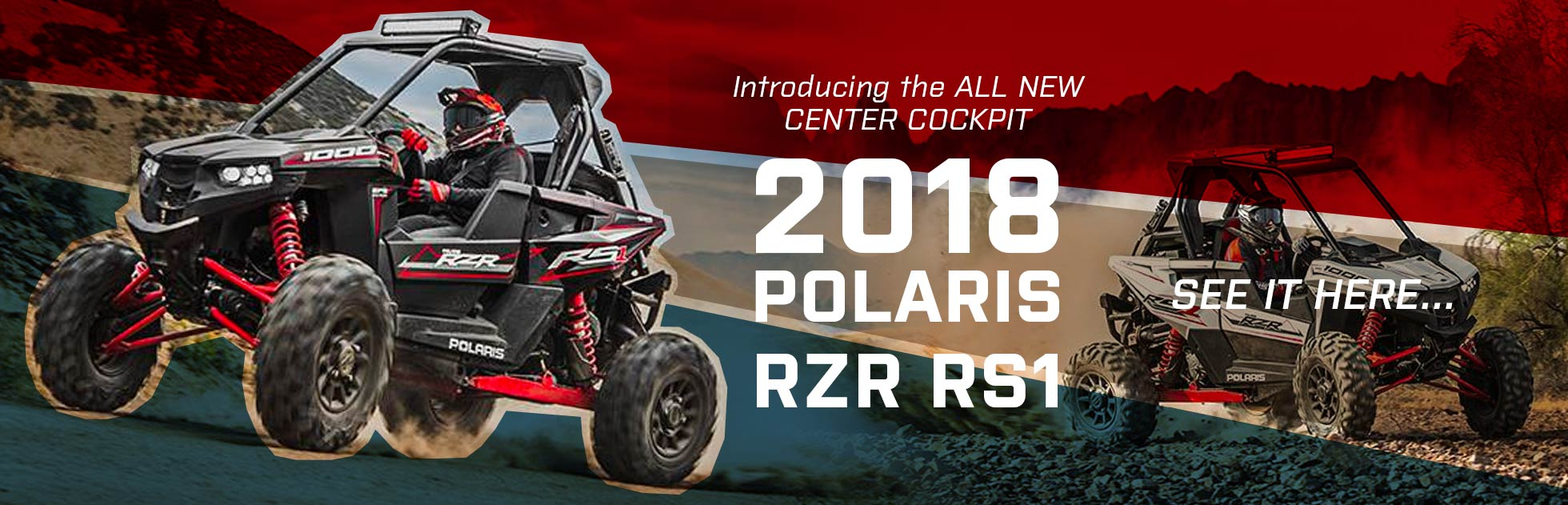 All new Center Cockpit Rzr RS1