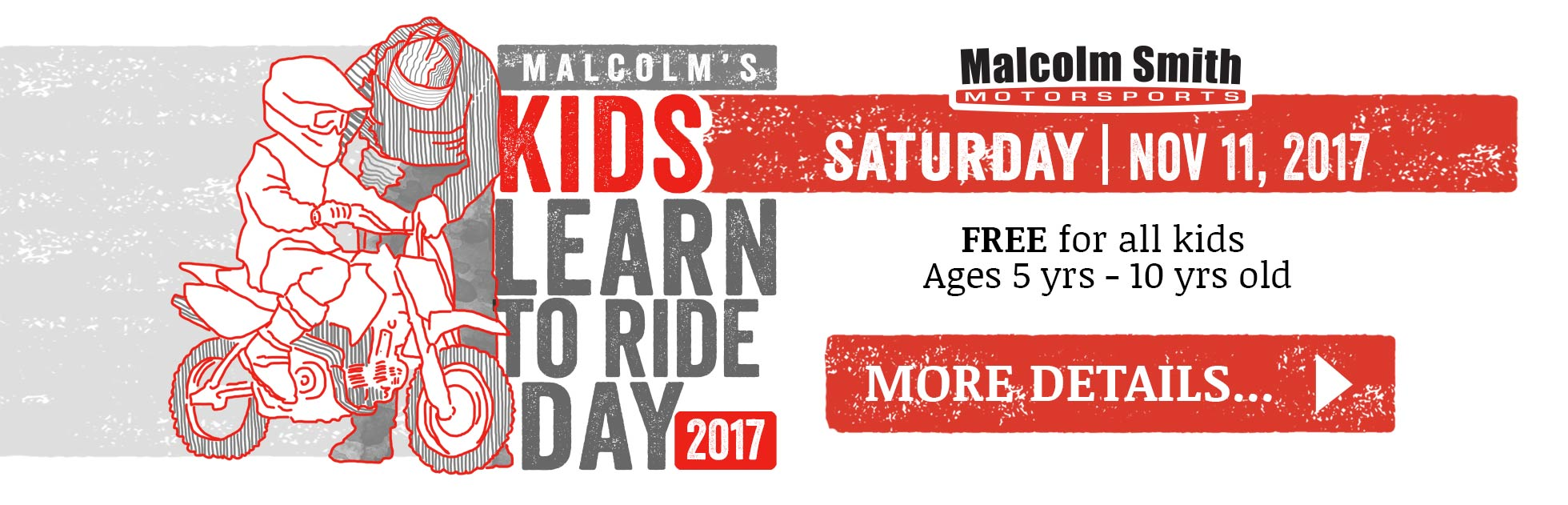Free Annual event to teach kids how to ride motorycles
