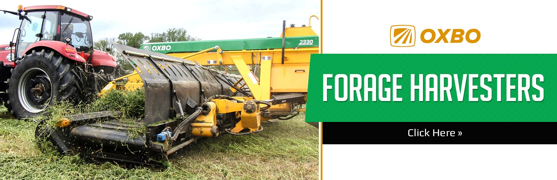 OXBO Forage Harvesters: Click here to view the lineup.