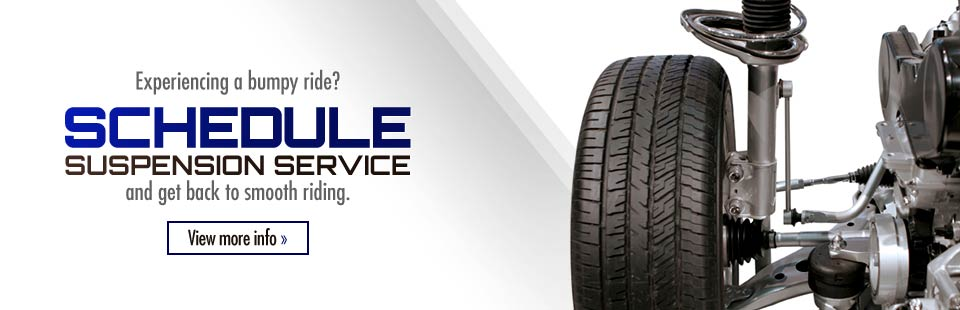 Experiencing a bumpy ride? Schedule suspension service and get back to smooth riding.