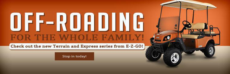 Check out the new Terrain and Express series from E-Z-GO.