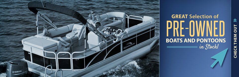 Click here to check out our great selection of in-stock pre-owned boats and pontoons!