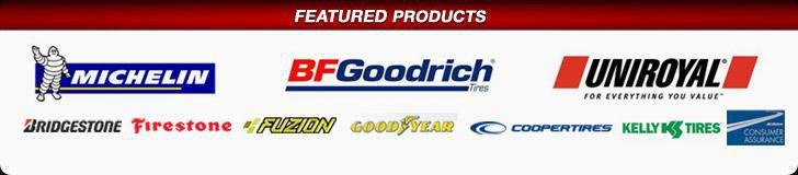 We carry products from Michelin®, BFGoodrich®, Uniroyal®, Bridgestone, Firestone, Fuzion, Cooper, Goodyear, and Kelly. We are proud members of AC Delco Consumer Assurance.