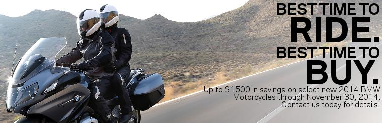 BMW Motorcycle Sales Promotions for October and November 2014