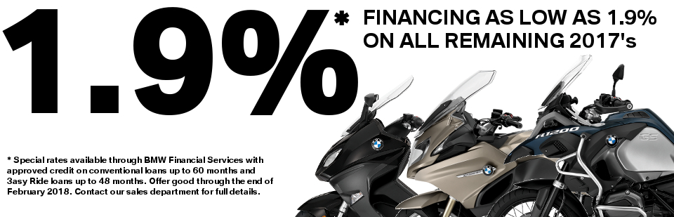 Take advantage of amazing financing offers on all new 2017 BMW's now through February 28, 2018!