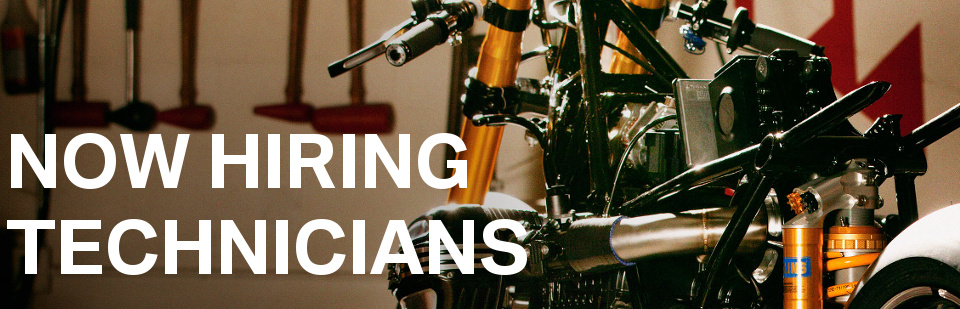 Be a tech, not a 'tech bro'. Work on and around the best motorcycles in the world. Contact us if you're interested!