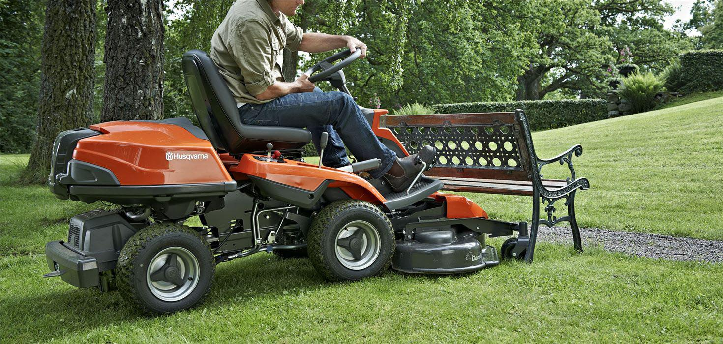 Mower drop-off and pick-up service