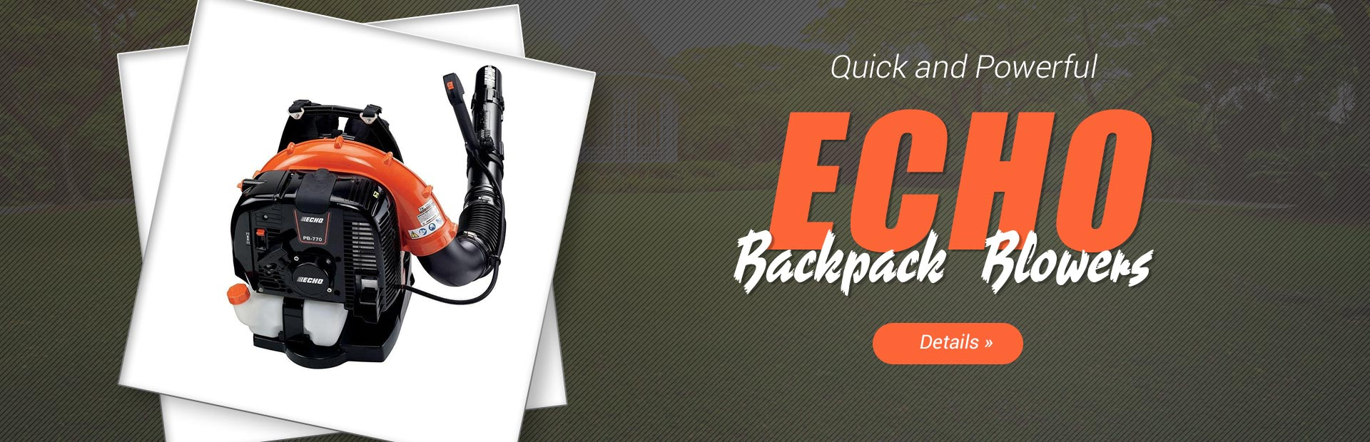 ECHO Backpack Blowers: Click here for details.