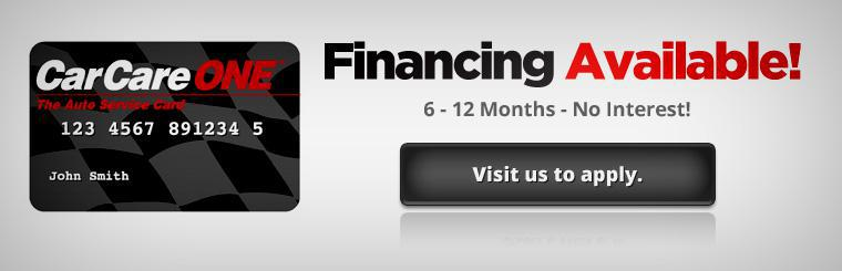 Financing Available! No interest for six to twelve months. Visit us to apply. Click here for a map to our location.
