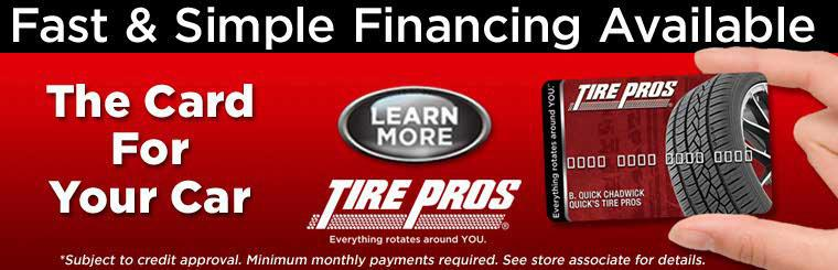 Get the Card for Your Car at Tire Pros: Click here for information.