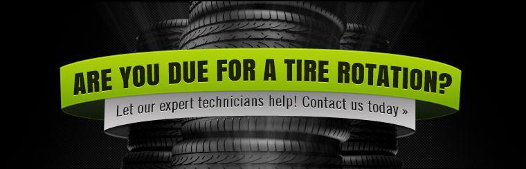 Are you due for a tire rotation? Let our expert technicians help! Click here to contact us today.