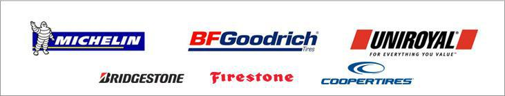 We carry products from Michelin®, BFGoodrich®, Uniroyal®, Bridgestone, Firestone, and Cooper.
