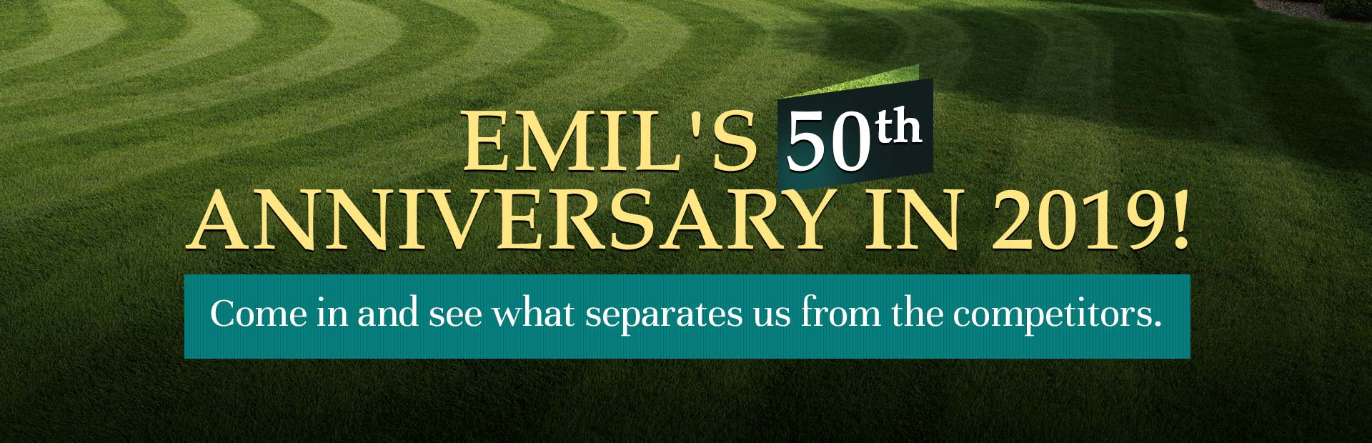 Emil's 50th Anniversary in 2019! Come in and see what separates us from the competitors.