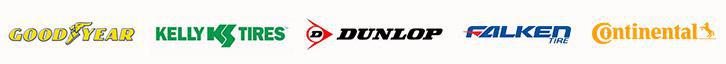 We proudly carry products from Goodyear, Kelly, Dunlop, Falken, and Continental.