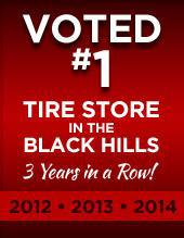 Voted #1 tire store in the Black Hills three years in a row!