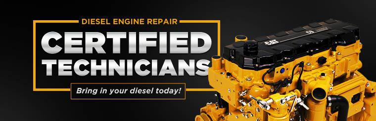 We have diesel engine repair certified technicians! Stop in today.