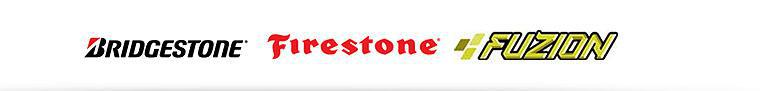 We carry products from Bridgestone, Firestone, and Fuzion.