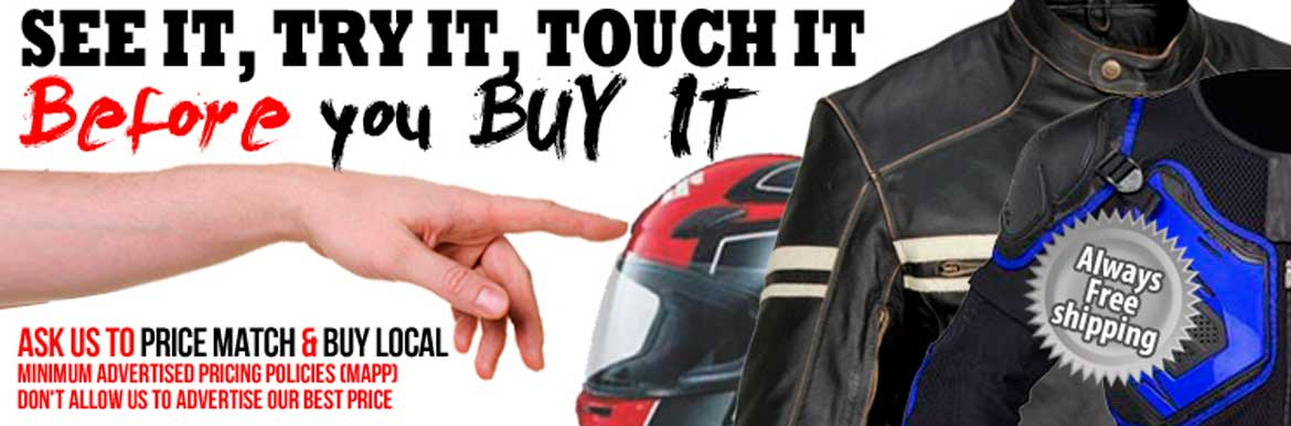 See it, try it, and touch it before you buy it!