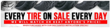 Every Tire On Sale Every Day