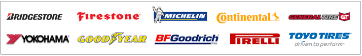 We carry products from Bridgestone, Firestone, Michelin®, Continental, General, Yokohana, BFGoodrich®, Pirelli, Toyo, and Goodyear.