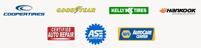 We carry products from Cooper, Goodyear, Kelly, and Hankook. Our technicians are ASE certified. We are a NAPA AutoCare Center. We are Certified Auto Repair.