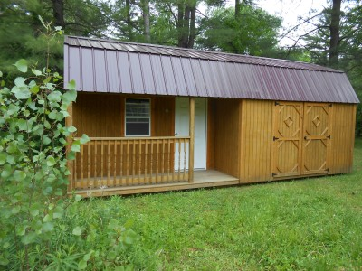 Side Porch Lofted Cabin & Garden Sheds u0026 Outdoor Storage Sheds in Cadillac u0026 Traverse City MI ...