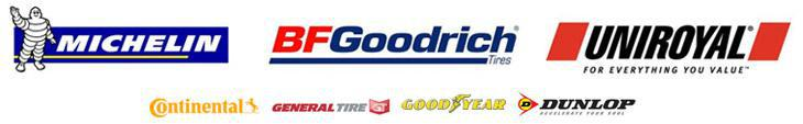We carry products from Michelin®, BFGoodrich®, Uniroyal®, Continental, General, Goodyear, and Dunlop.