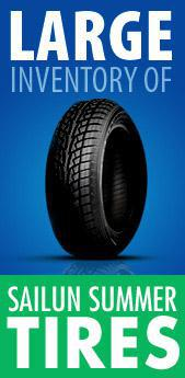 Large inventory of Sailun summer tires!