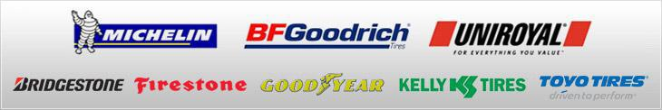 We proudly offer products from: Michelin®, BFGoodrich®, Uniroyal®, Bridgestone, Firestone, Goodyear, Kelly Tires and Toyo.