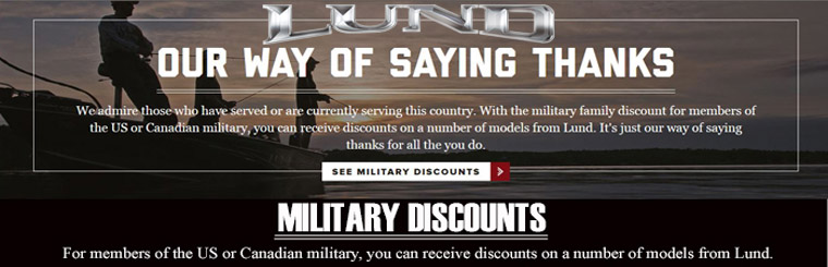 Lund Military Discount
